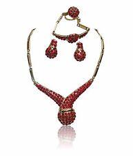 Red Gold Plated Moda Collana Costume partito gioielli Set
