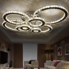 4/6/8 rings LED Crystal Ceiling Light Living Room Chandelier Lobby Pendant Lamp