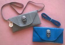 Skull Clutch Sac à main avec sangle bleu ou gris Alternative fashion-NEUF
