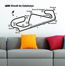 Circuito de Barcelona-circuito de vía Catalunya mapa F1 Moto GP Vinilo Pegatinas De Pared