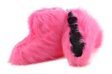 Hüttenschuhe Hausschuhe Yeti Fell Lammfell Schafwolle Pantoffeln Pink Gr.35-42