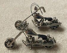 Scrap Metal Nuts & Bolts Motorcycle Chopper Bike Frigurine Sculpture (variation)