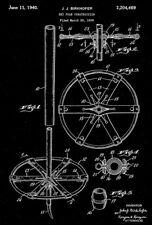 1940 - Ski Pole Construction - J. J. Birkhofer - Patent Art Poster