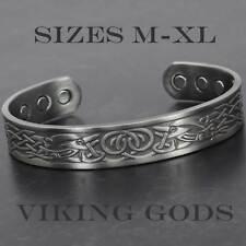 Magnetic Bracelet for Men Copper Bracelet Bangle for Pain Wristband Viking - VGP