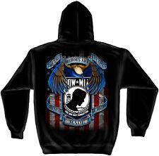 Erazor Bits Hooded Sweatshirt Sweater Hoodie Military Heroes POW MIA Black