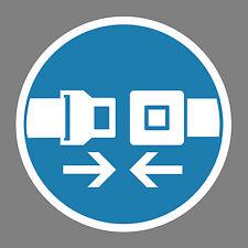 Sicherheitsgurt benutzen Aufkleber Sticker Schild Hinweis Verbotsschild