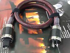 US Mains 7N OCC Silver AC Power Cable Carbon rhodium Plug IEC P50
