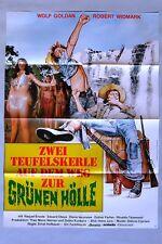 (P63) Kinoplakat Zwei Teufelskerle auf dem Weg zur grünen Hölle - 1974