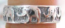 NEW 925 STERLING SILVER PLAIN OXIDISED ELEPHANT BAND RING UNISEX SIZE I K M O Q