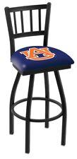 "Auburn Tigers HBS Navy ""Jail"" Back High Top Swivel Bar Stool Seat Chair"