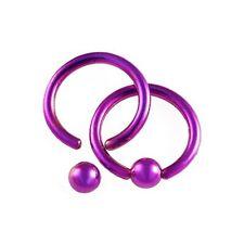 Piercing tragus anneau acier violet anodisé