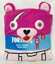NEW Fortnite Union Suit Cuddle Team Leader Rex Costume Unisex Adult Cosplay S M