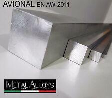 Barra Quadra Alluminio AVIONAL AW-2011 da 40 45 50 60 70 mm IN DIVERSE LUNGHEZZE
