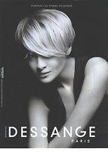 """PUBLICITE ADVERTISING  2010  DESSANGE coiffeur pour """"portait de femmes"""""""