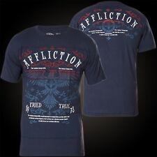 Affliction T-Shirt Bird Blau