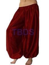 Maroon Satin Women Student Harem Yoga Genie Trouser Belly Dance Pant Aladdin