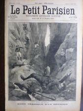 LE PETIT PARISIEN 1898  CHASSEURS ALPINS AEROSTATION