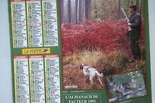 CALENDRIER DES POSTES - ALMANACH DU FACTEUR 1993