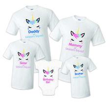 78a2623c Unicorn Squad Birthday Matching T-shirts Party Family Kid shirt Mom, dad  Reunio