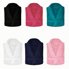 100% Cotton Terry Towelling Adults Shawl Collar Bathrobe Dressing Gown Bath Robe