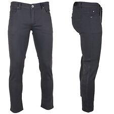 KAYDEN.K  CHARCOAL GREY Men's Skinny Jeans Twill Denim Pants Size 28 - 38
