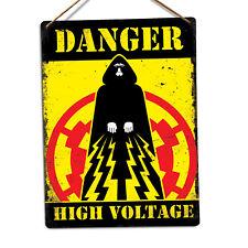 WTF | Danger High Voltage | Metal Wall Sign Plaque Art | Emperor Palpatine Vader