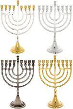 9 Branch Hanukkah Menorah Harp Design  20.5cm Chanukah Menora Jewish hanukiah