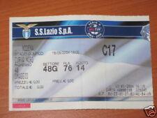 LAZIO -  MODENA BIGLIETTO TICKET 2003/04