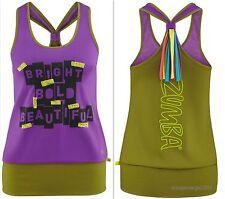 ZUMBA FITNESS TOP SHIRT RACERBACK Tank Tee fr CONVENTION & U.K.Harrods Dance~HOT