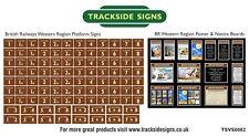 British Railways Western Region Model Railway Platform Numbers & Posters N Gauge
