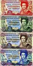 Falkland Islands, Complete SET, 5;10;20;50 pounds, 1984-2011 UNC