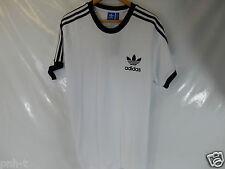 Adidas Originals Retro De Cuello Redondo Camiseta Talla XL BNWT Combinación De Colores Blanco Negro