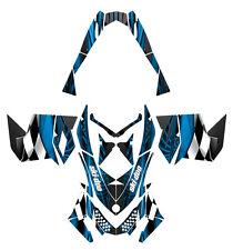 Skidoo Rev XP 2008 2012 Snowmobile Graphics Custom Wrap #3500 Blue