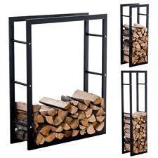 Porte bûches rangement bois de chauffage KERI V3 métal noir salon cheminée poele