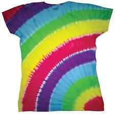T-SHIRT MAGLIETTA  Rainbow Moda Tie Dye Arcobaleno tinta a mano