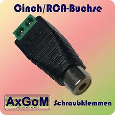 Cinch-Buchse - Schraubklemme  - RCA w - 3,5 oder 10 Stück - Audio + Video