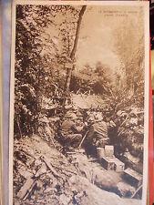 CARTOLINA WW1 BATTAGLIA DEL PIAVE MITRAGLIATRICI A FOSSALTA GIUGNO 1918