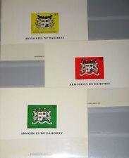 Dahomey 1969 383-85 259-60 c101 Deluxe bl. coat of arms escudo de armas de la república mnh
