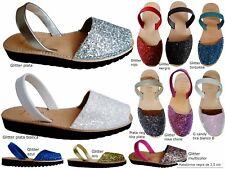 Avarcas menorquinas GLITTER PLATAFORMA 2,5 cm real sandals menorca spain abarca