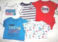 PUMA Infant Boys  Bodysuits 5 pack T-Shirt   3-6 M   6-9 M NWT Sports