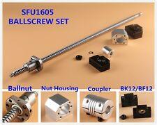 L250-1550mm RM/SFU1605 CNC Ball Screw Set + Ballnut Housing + BK/BF12 + Couplers