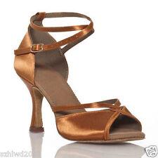 Ladies Ballroom Rumba Samba Latin Tango Dance Salsa Shoes Heels Sandals US 5-9