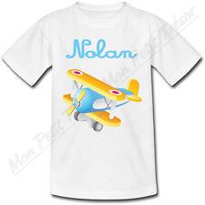T-shirt Enfant Avion Jouet avec Prénom Personnalisé