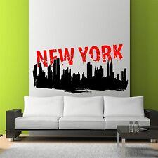 Full Color New York Skyline Cityscape Wall Art Sticker Decal Mural Transfer