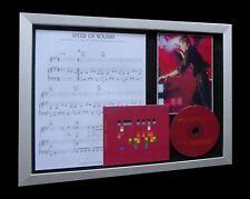 COLDPLAY Speed Of Sound LTD Nod CD MUSIC FRAMED DISPLAY