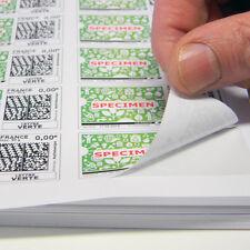 Planches A4 de 24 étiquettes autocollantes 6,35 x 3,39 cm - spéciales TIMBRE