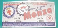 Biglietto lotteria nazionale 1999 gran premio F3 Monza