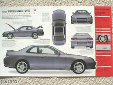 1999 Honda PRELUDE VTi MOTEGI SPEC SHEET/Brochure