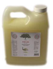 100% PURE  EMU OIL ORGANIC  Australian 3 times REFINED 1 oz -32 OZ NATURAL