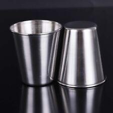 Stainless Steel Mini Cup Mug Drinking Coffee Beer Bottles Camping Travel 45/70ML